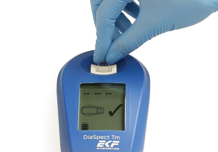 Diaspect hemoglobin analyzer step 2