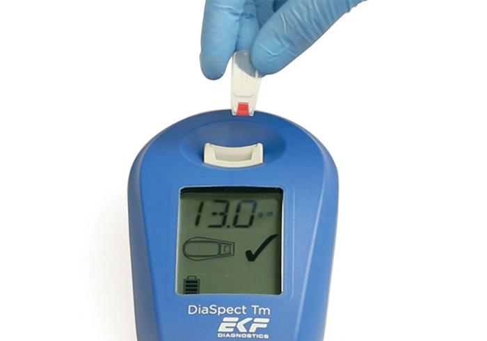Diaspect hemoglobin analyzer step 3